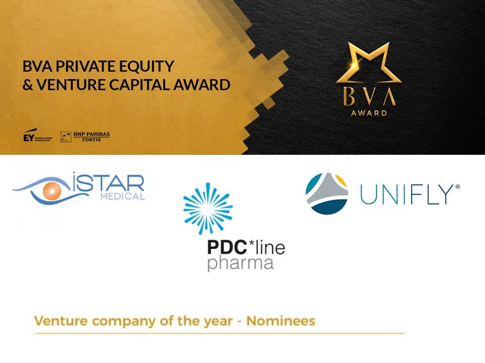 The three nominees for the 2020 BVA Award Venture company of the year